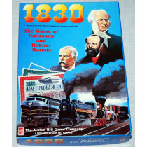 1830 The Game of Railroads and Robber Barons (First Edition ) by Avalon Hill (1986) As New