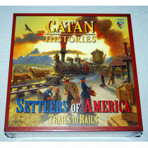 Catan Histories Settlers of America-Trails to Rails by Mayfair Games (2010) New