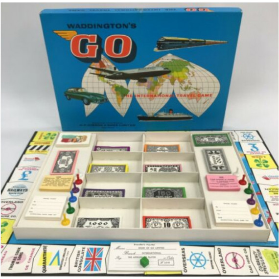 Go - The International Travel Game by Waddingtons (1961)