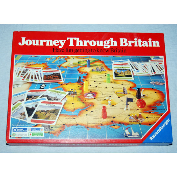 Journey Through Britain Board Game by Ravensburger (1988)