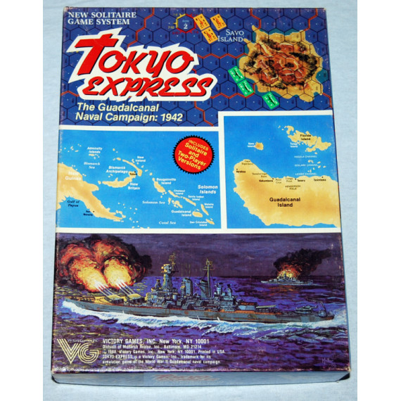 Tokyo Express - The Guadalcanal Naval Campaign 1942 Board Game by Victory Games (1988)